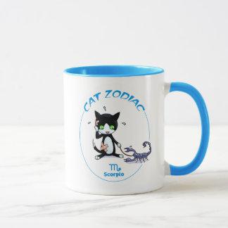 Scorpio Zodiac Cat mug