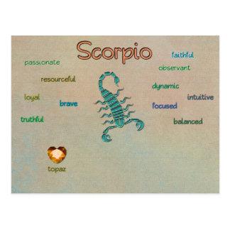 Scorpio zodiac characteristics postcard