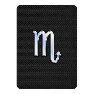 Scorpio Zodiac chrome like Sign black snake skin 11 Cm X 16 Cm Invitation Card