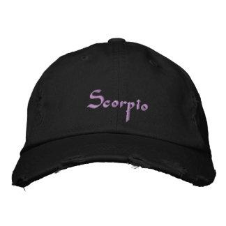 Scorpio Zodiac Embroidered Cap / Hat
