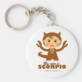 Scorpio Zodiac for Kids Basic Round Button Key Ring