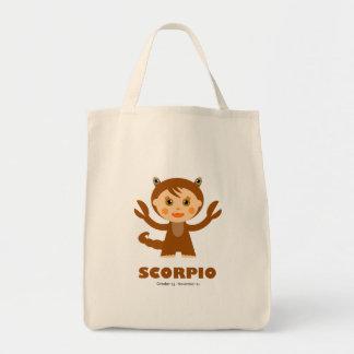 Scorpio Zodiac for Kids Grocery Tote Bag