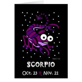 SCORPIO - ZODIAC GREETING CARD