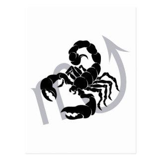 Scorpio zodiac horoscope astrology sign postcard