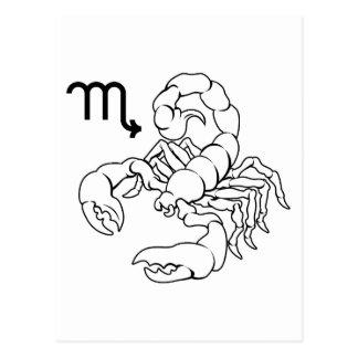 Scorpio zodiac horoscope astrology sign post cards