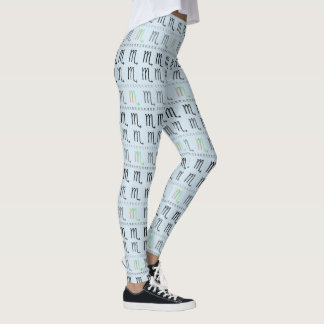 Scorpio Zodiac Pattern Leggings