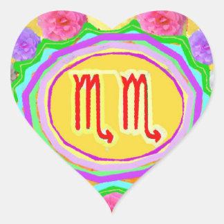 SCORPIO  Zodiac  Prince Heart Sticker