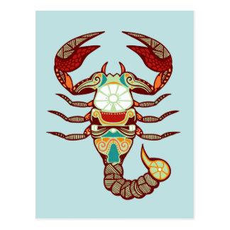 Scorpio Zodiac - Scorpion Post Card