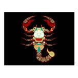 Scorpio Zodiac - Scorpion Postcard