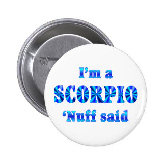 Scorpio Zodiac Sign 6 Cm Round Badge