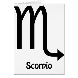 Scorpio Zodiac Sign Card