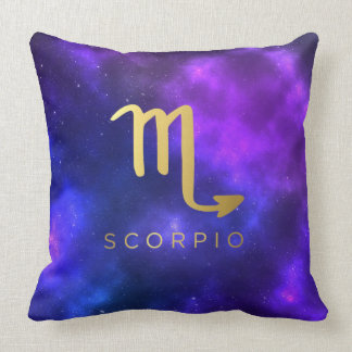 Scorpio Zodiac Sign Custom Throw Pillow Home Decor