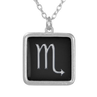 Scorpio Zodiac Sign-Faux Metal Design Silver Plated Necklace