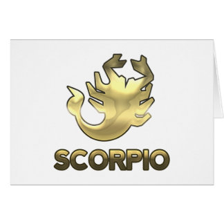 Scorpio zodiac sign - old gold edition card