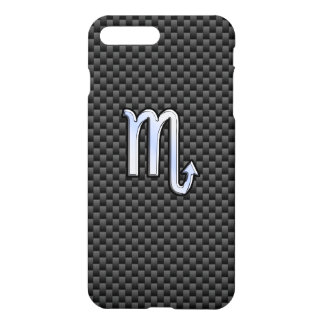 Scorpio Zodiac Sign on Carbon Fiber iPhone 7 Plus Case