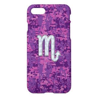 Scorpio Zodiac Sign on Pink Camo iPhone 7 Case