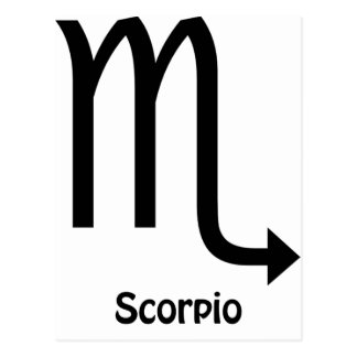 Scorpio Zodiac Sign Postcard