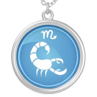 Scorpio Zodiac Sign Silver Plated Necklace