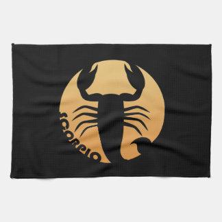 Scorpio Zodiac Sign Tea Towel