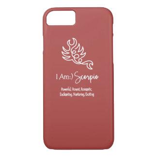 Scorpio Zodiac Sign The Scorpion Marsela Wine Red iPhone 7 Case