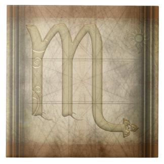 Scorpio Zodiac Sign Tile