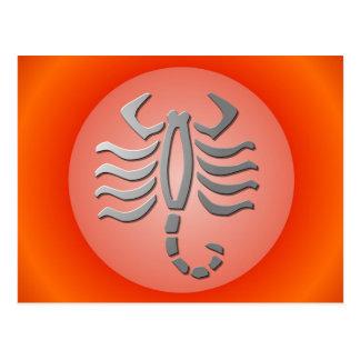Scorpio Zodiac Star Sign In Light Silver Postcards