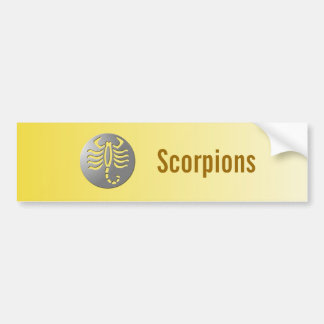 Scorpio Zodiac Star Sign Silver Premium Car Bumper Sticker
