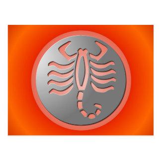 Scorpio Zodiac Star Sign Silver Premium Postcards