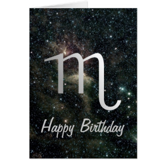 Scorpio Zodiac Star Sign Universe Birthday Card