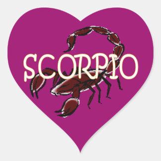 Scorpio zodiac heart sticker