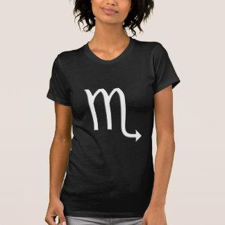 Scorpio Zodiac Symbol Ladies Black T-Shirt