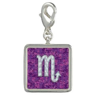 Scorpio Zodiac Symbol on Pink Digital Camouflage