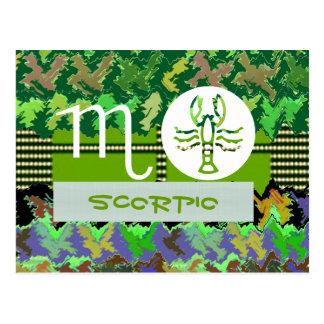 SCORPIO Zodiac Symbol Postcard