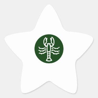 SCORPIO Zodiac Symbol Star Sticker