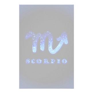 Scorpio Zodiac Symbol Personalized Stationery