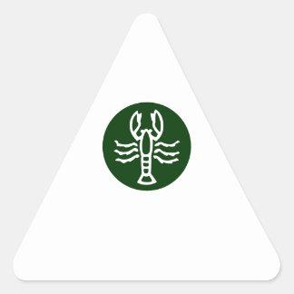 SCORPIO Zodiac Symbol Triangle Sticker