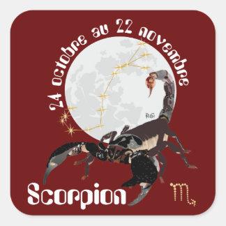 Scorpion 24 octobre outer 22 novembre Autocollant Square Sticker