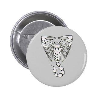 Scorpion 6 Cm Round Badge