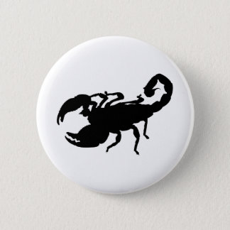 Scorpion 6 Cm Round Badge