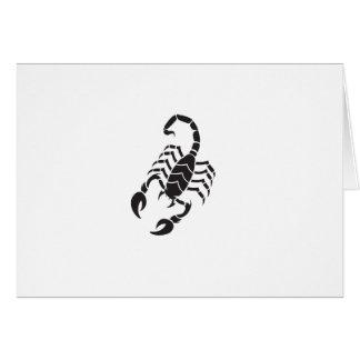 scorpion ai greeting card
