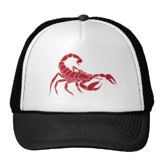 Scorpion Bright Red Cap