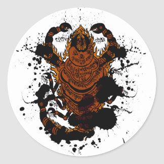 Scorpion charm classic round sticker