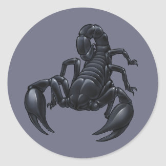 Scorpion Classic Round Sticker