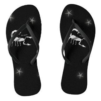 Scorpion  Design Black Flip Flops
