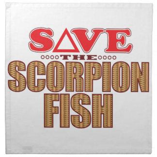Scorpion Fish Save Printed Napkins