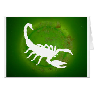 SCORPION GREEN BACKGROUND PRODUCTS CARDS