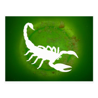 SCORPION GREEN BACKGROUND PRODUCTS POST CARD