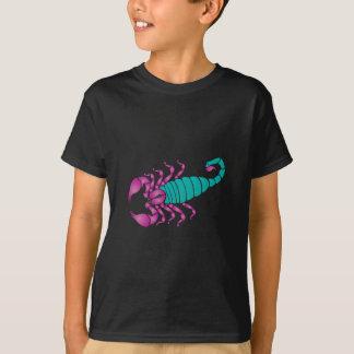 Scorpion Image Purple Teal T-shirts