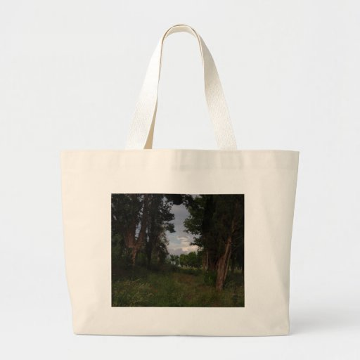 Scorpion Shaped Coud In The Woods Canvas Bags