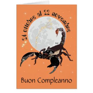 Scorpione 24 ottobre Al 22 Nov. Biglietti d'auguri Card